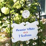 bonnie white medium sign in yard