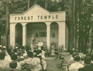 101 Forest Temple  B.  postmarked 1936 - Copy